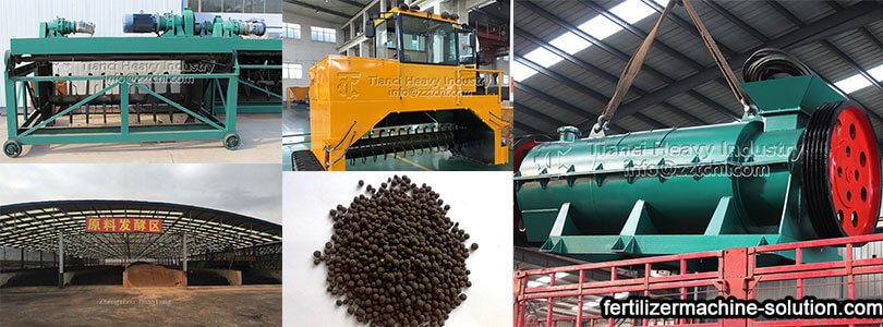 pig manure organic fertilizer production line machines