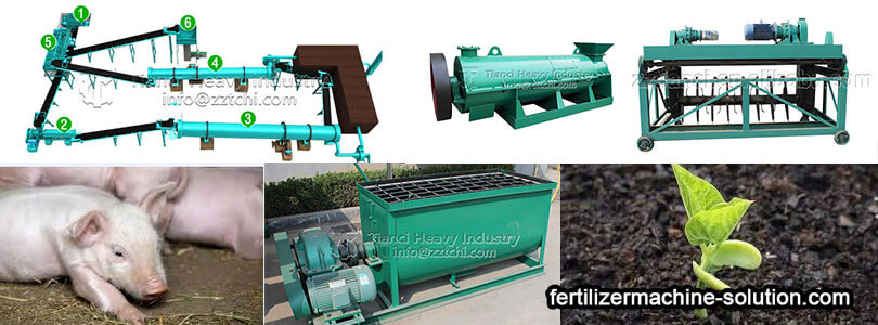pig manure organic fertilizer production line