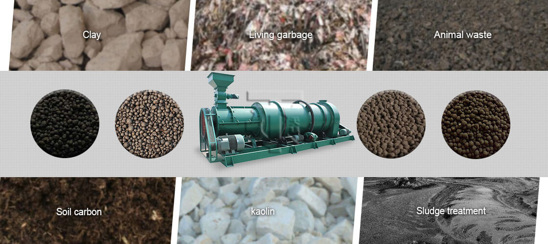 material New Type Two In One Organic Fertilizer Granulator