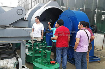 Tianci factory sent compost turning machine to Chile