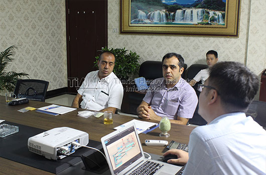 Turkey customer visit our compound fertilizer machinery