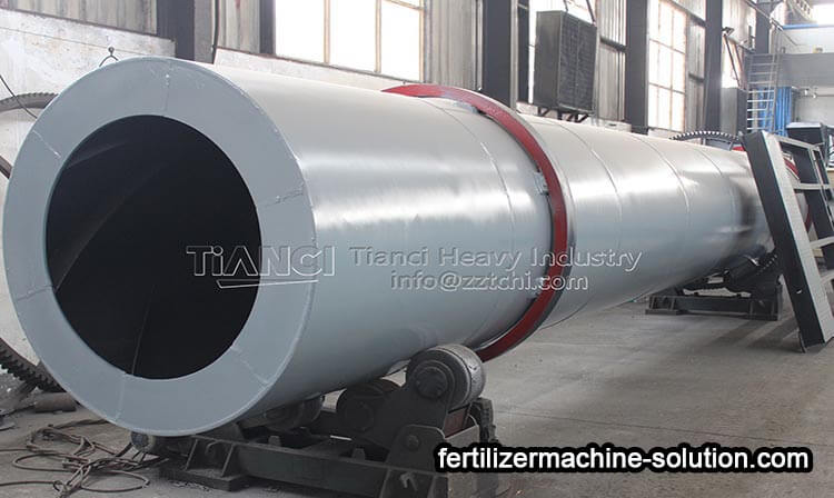 Maintenance method of fertilizer production machine in organic fertilizer production line