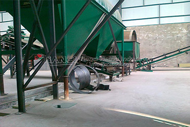 Granulation process in organic fertilizer production line