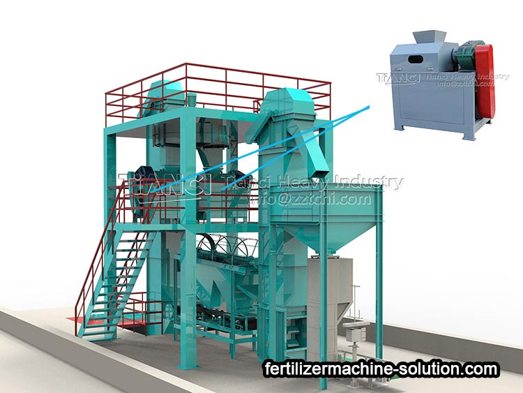 NPK fertilizer production line of roller extrusion granulator